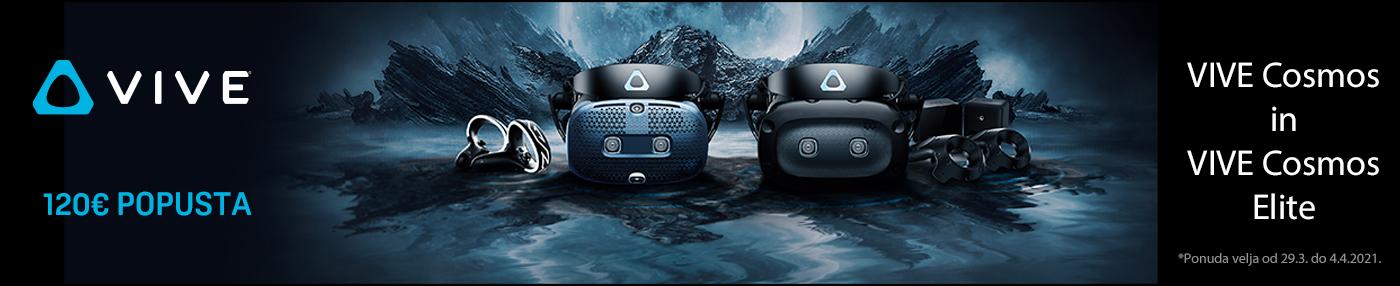 HTC VR promocija za očala Vive Elite in Cosmos
