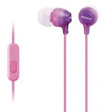 Sony slušalka z mikrofonom EX15AP roza