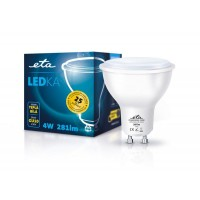 ETA LED žarnica GU10 4 W (toplo bela, 3000K, 281 lm)