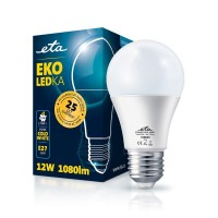 ETA LED žarnica E27 12 W (hladno bela, 6500K, 1080 lm)