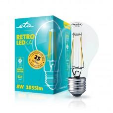 ETA LED žarnica RETRO E27 8 W (toplo bela, 2700K, 1055 lm)