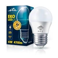 ETA LED žarnica G45, E27 navoj 6 W (toplo bela, 2700K, 470 lm)