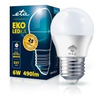 ETA LED žarnica G45, E27 navoj 6 W (nevtralno bela, 4000K, 490 lm)