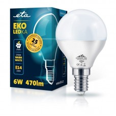 ETA LED žarnica P45, E14 navoj 6 W (toplo bela, 2700K, 470 lm)