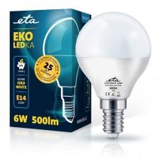 ETA LED žarnica P45, E14 navoj 6 W (hladno bela, 6500K, 500 lm)