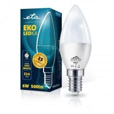 ETA LED žarnica E14 6 W (hladno bela, 6500K, 500 lm)