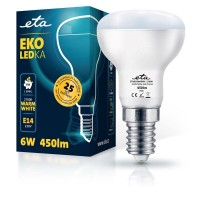 ETA LED žarnica R50, E14 navoj 6 W (toplo bela, 2700K, 450 lm)