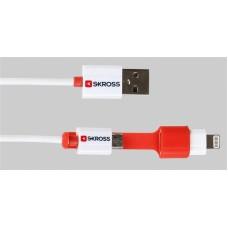 SKROSS 2v1 napajalni in sinhronizacijski kabel microUSB&Lightning (2.700200)