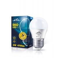 ETA LED žarnica G45 6W, E27 navoj (toplo bela, 3000K, 638 lm)-