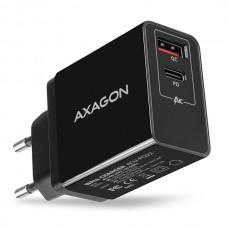 AXAGON Polnilec 1xUSB / 1x USB-C ACU-PQ22