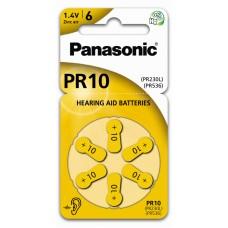 Panasonic baterije za slušni aparat PR10 PR10L/6LB