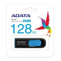 ADATA USB KLJUČ UV128 64GB ČRNO/MODER AUV128-64G-RBE