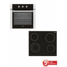 VOX vgradni set plošča in pečica (EBB7116 + EBC410 DB)