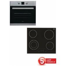 VOX vgradni set plošča in pečica (EBC 410 DB + EBB 2121 IX)