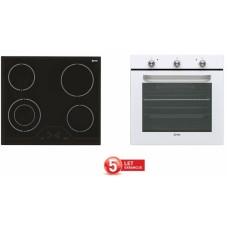 VOX vgradni set plošča in pečica (EBC 410 DB + EBB 2110 W)